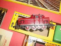 1960's FLEISCHMANN TRAIN SET STEAM LOCOMOTIVE & CARS HO SCALE MODEL #315/3
