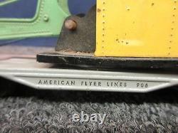 5 American Flyer Train S Scale Freight Car Flat Truck Crane Caboose Locomotive