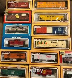 54 Vintage HO Scale Train Cars & Engines Tyco Bachmann AHM Life Like Model Power