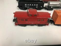 American Flyer 283 Engine Tender Caboose + 5 Cars 4-6-2 Engine Train Model