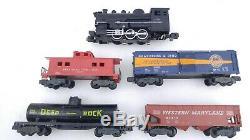 American Flyer Gilbert #20505 Steam Locomotive Engine Freight Cars Trains