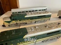 American Flyer Lines S Gauge 475 Rocket Passenger Train Locomotive & Cars Used