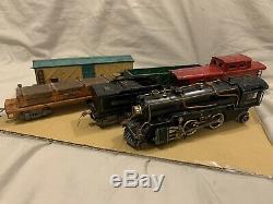 American Flyer O Gauge 2-4-2 Locomotive 3322 1930's Vintage Original Train Cars