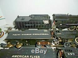 American Flyer Postwar Big Lot Of Trains S Gauge Vintage Cars. Engines, Accessory