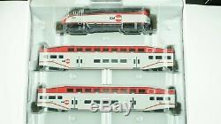 Athearn Bombardier Caltrain Train Set (F59PHI, 2 Coach, 1 Cab Car) HO scale