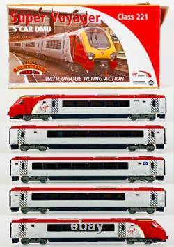 Bachmann 00 Gauge 32-625 Class 221 Super Voyager Virgin Trains 5 Car Tilting