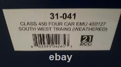Bachmann 31-041 Class 450 4 Car EMU 450127 South West Trains Weathered 00 Gauge