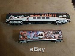 Bachmann Hawthorne Village San Francisco SF Giants Train Set Rails 6 Cars NO COA