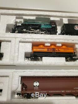 Bachmann N Scale Consolidation RTR Train Set 2-8-0 Steam Locomotive 6 Cars