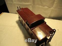 Buddy L Pressed Steel Toy Train, Locomotive, Tender, Box Car, Caboose