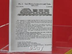 CARLISLE & FINCH No. 3 MINING LOCOMOTIVE TRAIN PAINTED YELLOW With 3 TIPPLE CARS