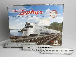Con-Cor 001-8721 HO Burlington Streamline Motor Train The Zephyr 3-Car Set EX