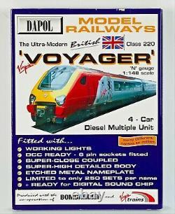 Dapol N Gauge Nd-063 Virgin Trains Mersey Voyager 4 Car Book Set Boxed