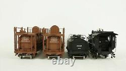 Division Point O Southern Pacific T1 4-6-0 Steam Engine Fire Train & Water Cars