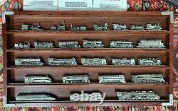 FRANKLIN MINT WORLDS GREATEST RAILROAD PEWTER TRAIN Complete Locomotives + Cars