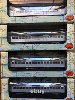 Gilbow HO London Underground Tube complete 1959 Central 4 car Train New Boxed