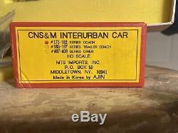 HO BRASS MTS AJIN MODEL Train CNS&M RR INTERURBAN CAR #170-182 Series COACH
