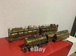 HO BRASS WESTSIDE MODEL CO. SOUTHERN PACIFIC 4-6-0 T-1 FIRE TRAIN With WATER CARS