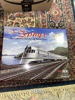 HO Con-Cor Burlington Pioneer Zephyr 3 Car Train New