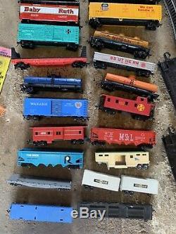 HO Train Set HUGE LOT Engine s Cars Tracks Controller s ATLAS TYCO Build A Scene
