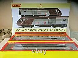 HORNBY Cross Country Trains R3808 power cars + complete 7 coach set XC01 or XC03