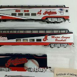 Hawthorne Village/Bachmann HO Scale Cleveland Indians Train Car Passenger Engine