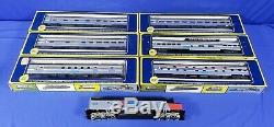 Ho Scale Amtrak Locomotive And 6 Ahm Passenger Cars 6401-6406 Train Set