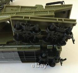 Ho U. S. Army Train Set F-3 Locomotive With 4 Cars 9180 Flat Missle Military Set