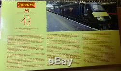 Hornby 00 Gauge R2705'grand Central Trains' Class 43 Hst Power Car/trailer