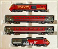 Hornby 00 Gauge'hornby' Branded Virgin Trains 125 Hst 4 Car Pack Part Boxed