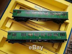 Hornby Dublo 2050 Suburban Electric Train Set EMU motor car & Driving Trailer