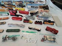 Huge Lot Vintage Tyco HO Scale Trains Track Railroad Cars