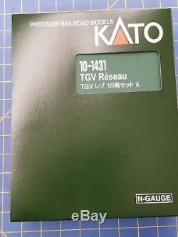 KATO 10-1431 TGV Reseau 10 Car set A & B N Scale Train from Mid America Raceway