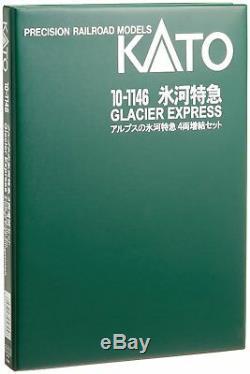 KATO N Gauge Alps' Glacier Express 4-Car Set 10-1146 Train Model Car Japan 699