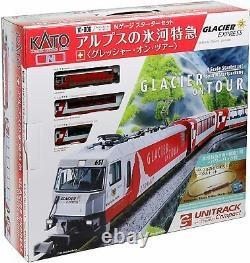KATO N-Gauge Starter Set Glacier Express of Alps 10-006 Model Train Japan