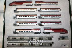 KATO N SCALE THALYS 10 CAR TRAIN SET With DISPLAY TRACK (K10910)
