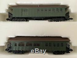 KEY 1880s Baldwin Mogul & 5 car platform train N scale IN Original BOX