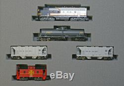 Kato N Freight 4 Car Train Set with ATSF Bluebonnet F7A Locomotive 1066273