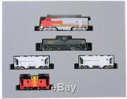 Kato New 2020 N Scale Santa Fe ATSF F7 Freight Train 5 Car Set 1066271