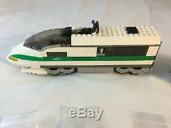 LEGO Lot 10157 10158 High Speed Train Locomotive & Train Car 100% Complete Bonus