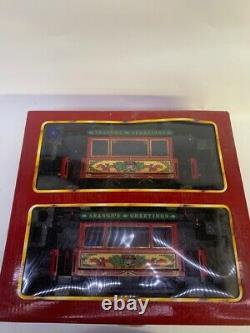 LGB 2036 Christmas Seasons Greetings Powered Trolley 2-Car Set (MI1046742)