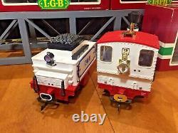 LGB Circus Train! Locomotive 2020 Tender 2217/6 & 3 Passenger Cars (3036)