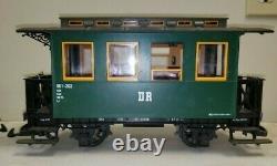 LGB G Scale Rack Drive Train Setup Locomotive 20471, 5 cars, track, bldgs, NIB