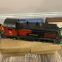 LIONEL POST WAR 601 SEABOARD NW2 SWITCHER Custom Train SET With 5 Cars -1950s