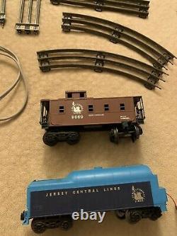 LIONEL TRAINS JERSEY CENTRAL #8303 Set LOCOMOTIVE WithTENDER + 6 CARS o GAUGE
