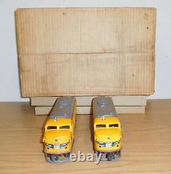 LIONEL TRAINS POSTWAR BOXED 1950 SET #1467w UNION PACIFIC ALCO #2023 DIESEL CARS