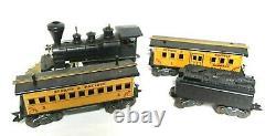 LOT Vintage Marx WM Crooks Train Locomotive Coal Car and 2 Passenger Cars RARE