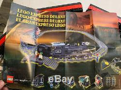 Lego 9V My Own Train Set 4535 Express Deluxe PLUS EXTRAS 7 cars plus locomotive
