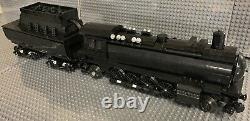 Lego Custom WW2 German BR41 Locomotive WithTroop Carrier, and V2 car, Black Ver