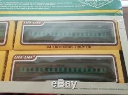 Life-Like King Coal Express Train Set Reading Railroad 7 Cars New #8910